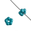 Forget-me-not Flower Beads 5mm Pearl Pastels Teal Blue